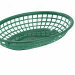 Winco Oval Fast Food Baskets, Green