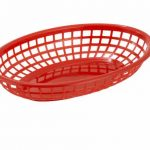 Winco Oval Fast Food Baskets, Red