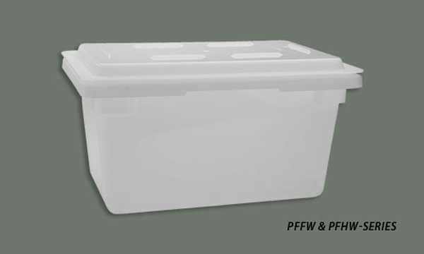 Winco PFHW-C Polypropylene Cover for PFHW-series 18x12-Inch Storage Box