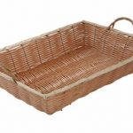 Winco 16″X11″X3″ Oblong Poly Woven Basket W/Hd