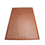 Winco Floor Mat 3'X5′,Grease Proofed, Red