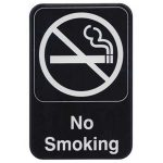 Winco 6″X9″ Sign, Black, No Smoking