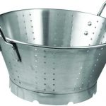 Winco Heavy Duty Stainless Steel Colander, 11Qt, 15″Dia X 7-1/2″