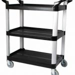 Winco 3 Tier Utility Cart, Black (Kd),