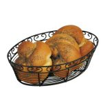 Winco Wire Bread/Fruit Basket, Black Oval 10?X6 1/2″X3″