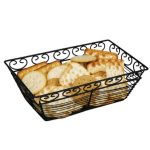 Winco Bread/Fruit Basket, Rectangular Black