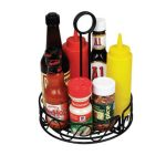 Winco Round Wire Condiment Caddy, 6 1/4″ Dia