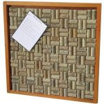 Wine Enthusiast Wine Cork Bulletin Board Kit
