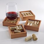 Wine Enthusiast Wine Cork Coaster Kit