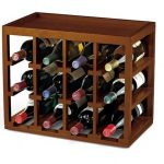 Wine Enthusiast 12-Bottle Cube-Stackable Hardwood Wine Rack