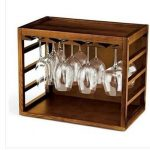 Wine Enthusiast Cube-Stackable Hardwood Glass Rack