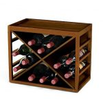 Wine Enthusiast 12-Bottle X Cube-Stackable Hardwood Wine Rack