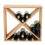 Wine Enthusiast 24-Bottle Compact Cellar Cube Wine Rack